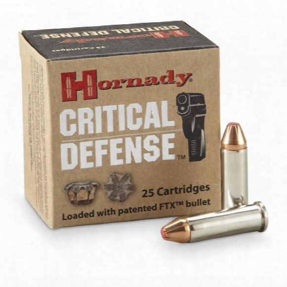 Hornady Critical Defense, .38 Special, Ftx, 110 Grain, 25 Rounds