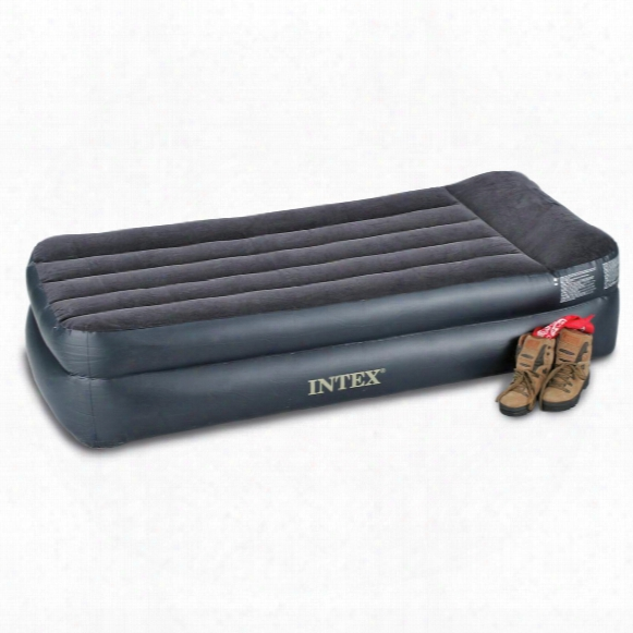 Intex Twin Air Bed Mattress With Built-in Electric Pump