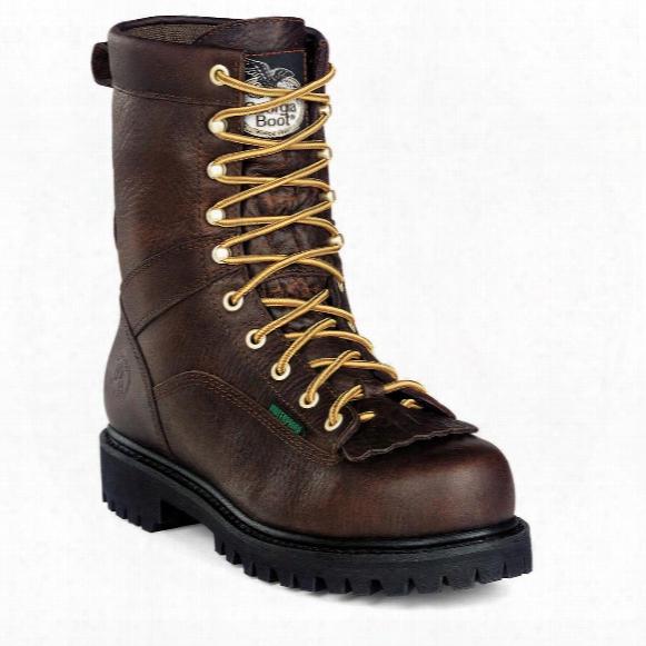 Men's Georgia Waterproof Low Heel Steel Toe Logger Boots