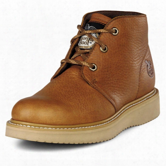 Men's Georgia® Chukka Wedge Work Boots, Barracuda Gold