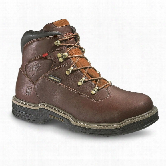 "Men's Wolverine® 6"" Waterproof Multishox Contour Welt Work Boots, Dark Brown"