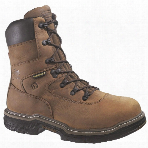 "Men's Wolverine® 8"" 400 Grams O F Thinsulate Ultra Insulation Marauder Multishox® Waterproof Steel Toe Boots, Brown"