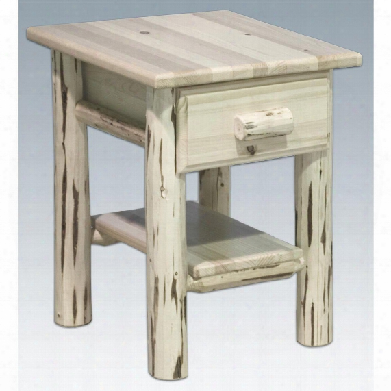 Montana Woodworks™ Nightstand With Drawer And Shelf, Unfinished