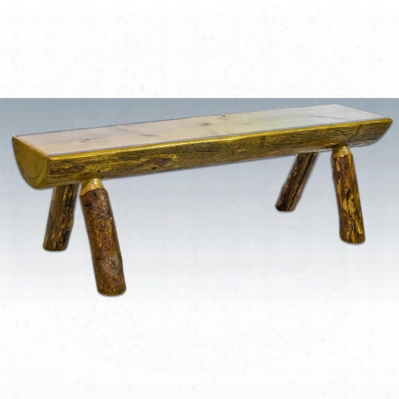 Montana Woodworks® Glacier Country Half Log Bench, 4'
