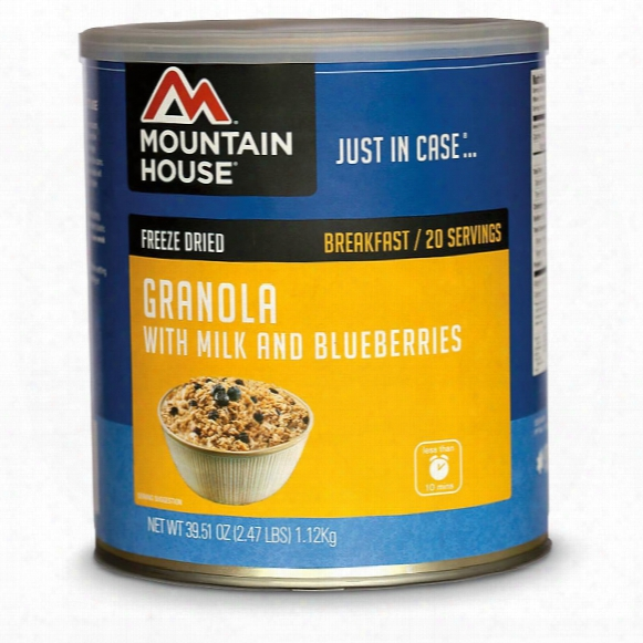 Mountain House Emergency Food Freeze-dried Blueberry Granola, 20 Servings