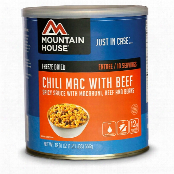 Mountain House Emergency Food Freeze-dried Chili Mac With Beef