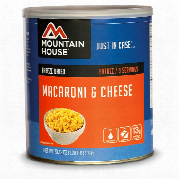 Mountain House Emergency Food Freeze-dried Macaroni & Cheese, 9 Servings