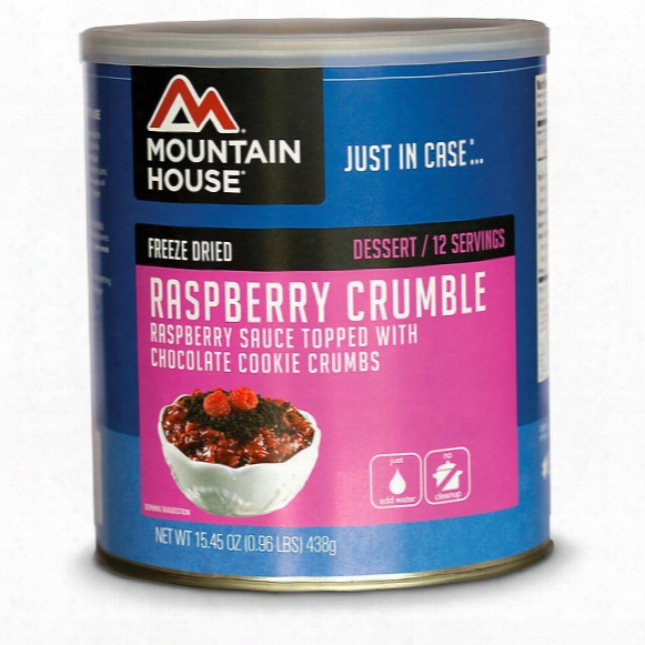 Mountain House Emergency Food Freeze-dried Raspberry Crumble, 30 Servings