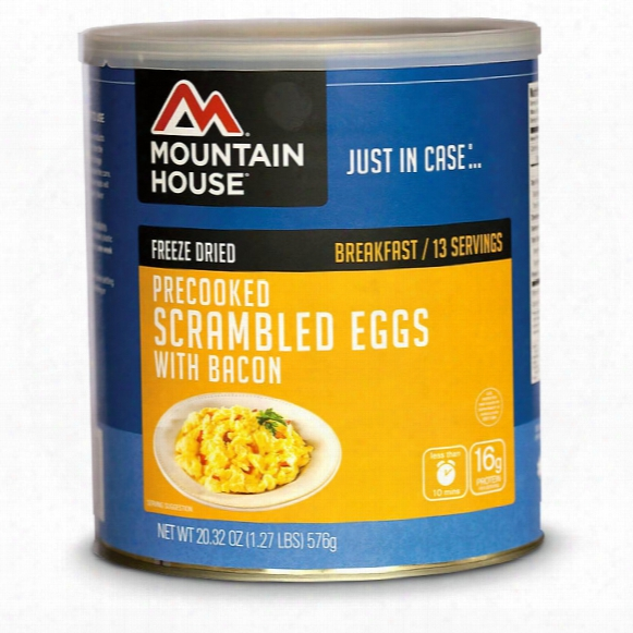 Mountain House Emergency Food Freeze-dried Scrambled Eggs With Bacon, 13 Servings