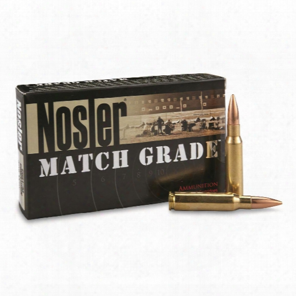 Nosler® Match Grade .308 Winchester 168 Grain Custom Competition® Ammo, 20 Rounds