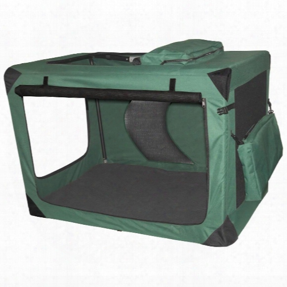 Pet Gear® Large Generation Ii Deluxe Portable Soft Crate, Moss Green