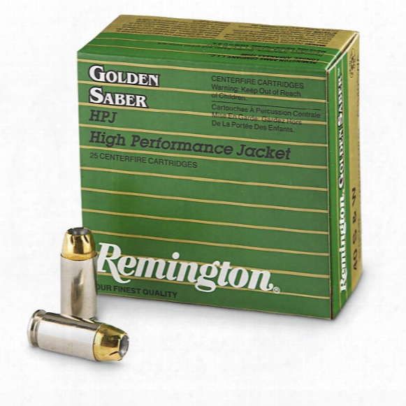 Remington Golden Saber, .40 Smith & Wesson, Bjhp, 165 Grain, 25 Rounds