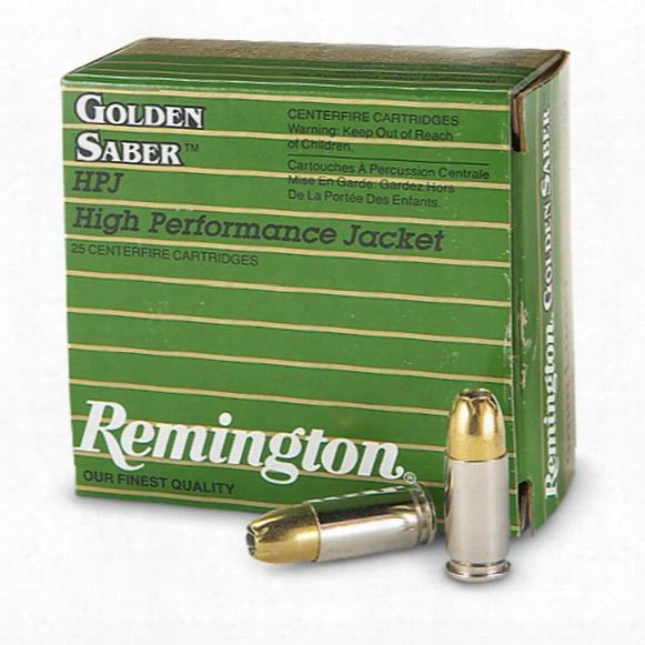 Remington Golden Saber, .45 Acp+p Ammo, Hpj, 185 Grain, 25 Rounds