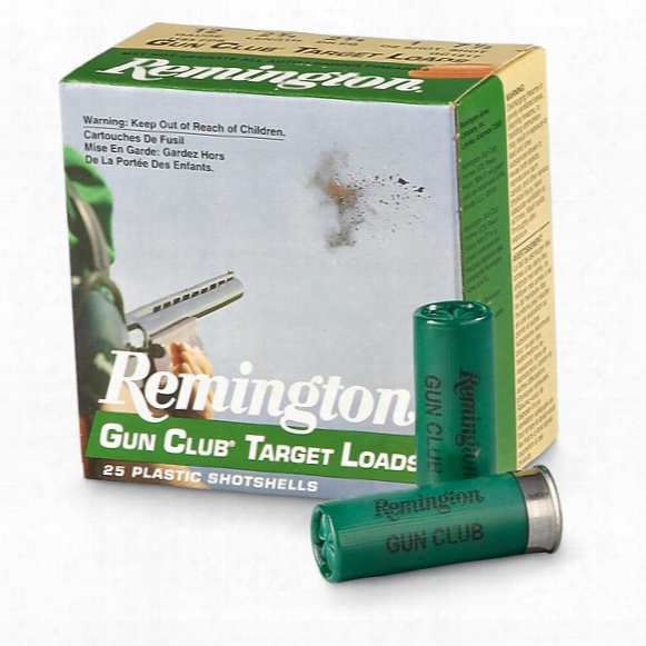 "Remington Gun Club Target Loads, 12 Gauge, 2 3/4"" Shell, 1 Oz., 25 Rounds"
