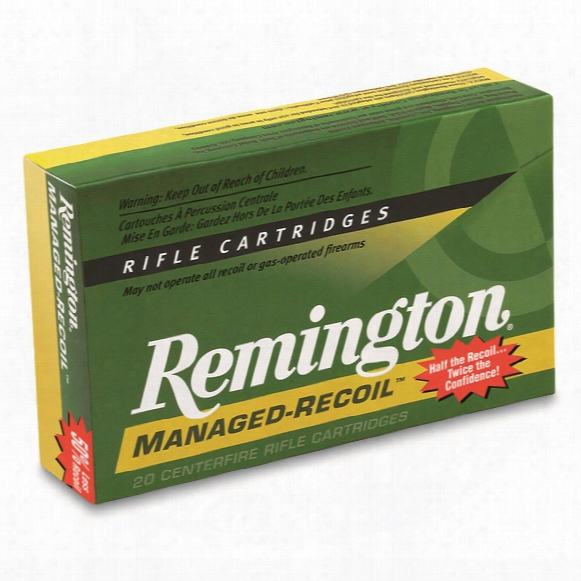 Remington, Managed Recoil Rifle, .30-30 Winchester, Core-lokt Sp, 125 Grain, 20 Rounds