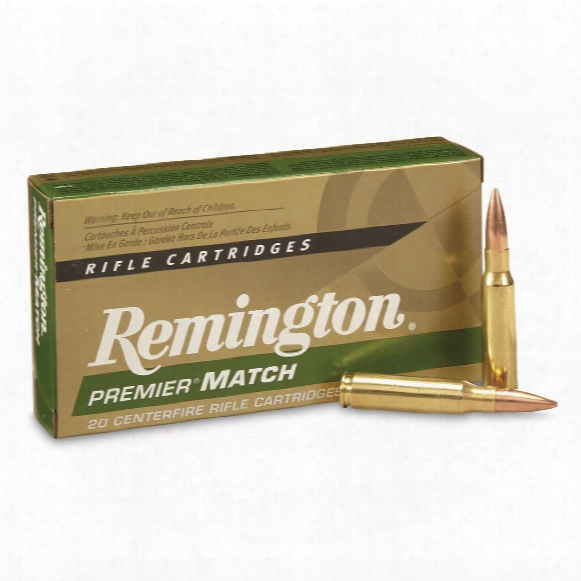 Remington Premier Match, .308 Winchester, Bthp, 175 Grain, 20 Rounds