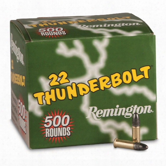 Remington Thunderbolt .22lr, Lrn, 40 Grain, 500 Rounds