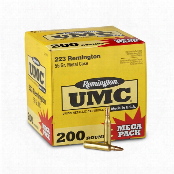 Remingtonu Mc, .223 Remington, Mc, 55 Grain, 200 Rounds