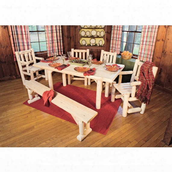 Rustic Natural Cedar Furniture Company® Cedar Log Dining Bench