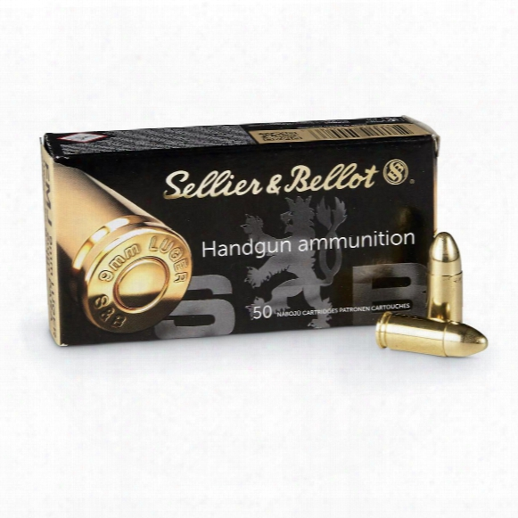Sellier & Bellot, 9mm Luger, Fmj, 124 Grain, 50 Rounds