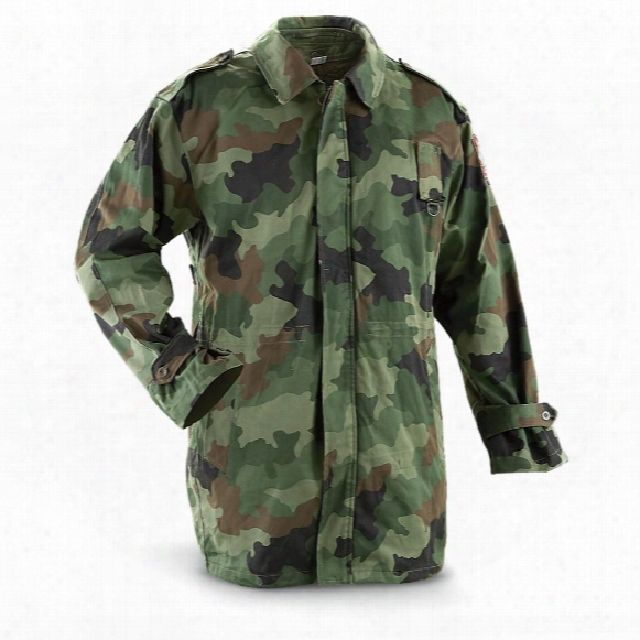 Serbian Military Surplus Winter Parka With Liner, Camo, Used