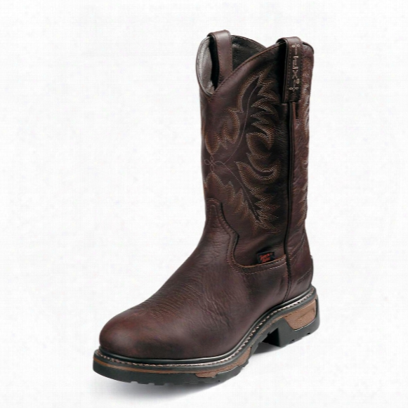 "Tony Lama® 11"" Tlx® Western Waterproof Steel Toe Boots, Briar"