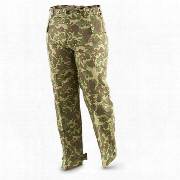 U.s. Military Surplus Army Wwii M42 Hbt Jungle Pants, New