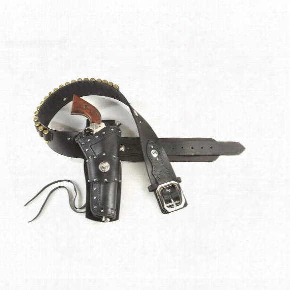 Widowmaker Western Cartridge Belt And Holster, Ruger .44/.45 Caliber, Right Hand