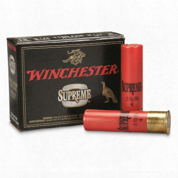 "Winchester, 12 Gauge, 3 1/2"", 2 1/4 Oz., Supreme Dobule X Magnum Copper Plated Turkey Loads, 10 Rounds"