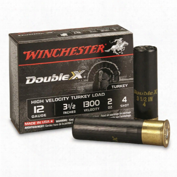 "Winchester, 12 Gauge, 3 1/2"", 2 Oz., High Velocity Copper Plated Turkey Shotshells, 10 Rounds"