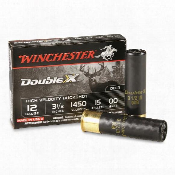"Winchester, 12 Gauge, 3 1/2"", Oo Supreme High Velocity, Buckshot, 5 Rounds"