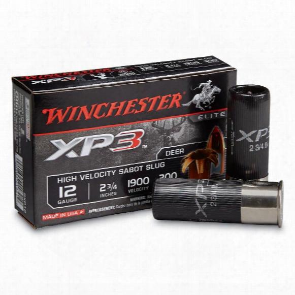 "Winchester, 2 3/4"" 12 Gauge, Xp3 Slugs, 300 Grain, 5 Rounds"