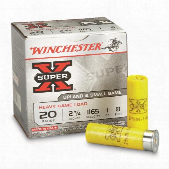 "Winchester, 20 Gauge 2 3/4"" 1 Oz., Super-x Heavy Game Field Shotshells, 25 Rounds"