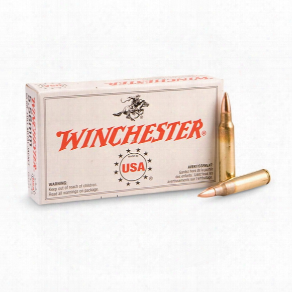 Winchester, .223 5.56x45mm, Fmj, 55 Grain, 100 Rounds