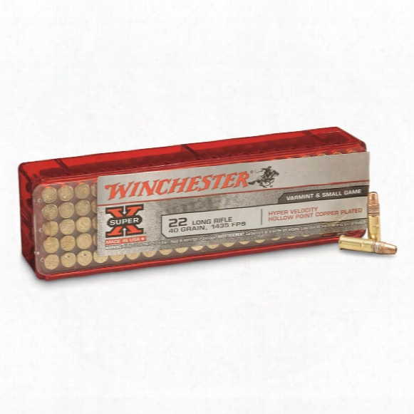 Winchester, Hyper Speed, .22lr, Hp, 40 Grain, 100 Rounds