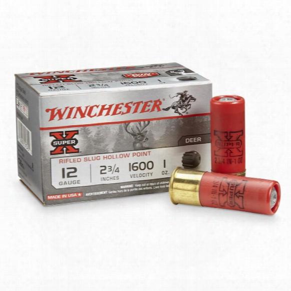 "Winchester Super X, 12 Gauge, 2 3/4"" Shells, 1 Oz. Slugs, 15 Rounds"