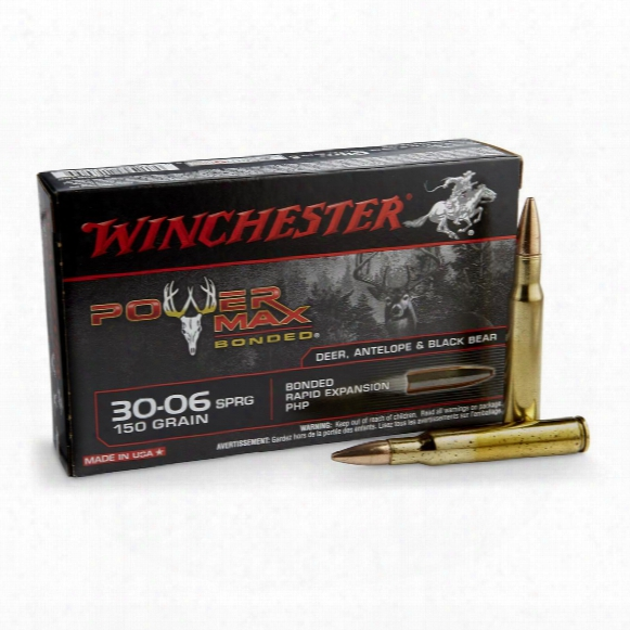 Winchester Super-x Power Max Bonded, .30-06 Springfield, Phpb, 150 Grain, 20 Rounds