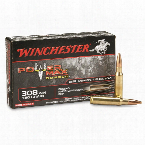 Winchester Super-x Power Max Bonded, .308 Winchester, Phpb, 150 Grain, 20 Rounds