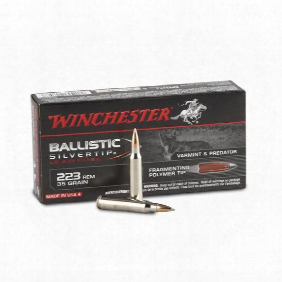 Winchester Supreme Ballistic, .223 Remington, Ballistic Silvertip Lead-free, 35 Grain, 20 Rounds