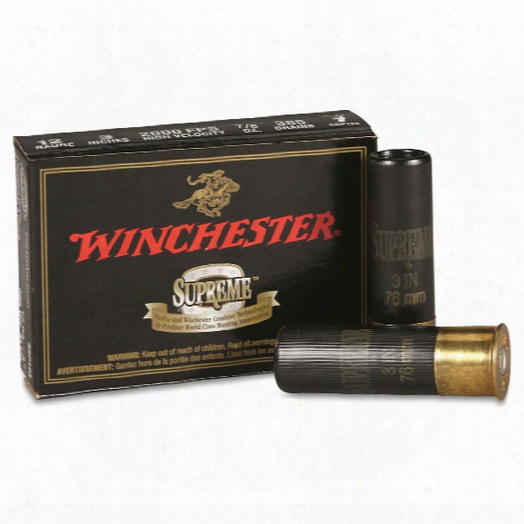 "Winchester, Supreme Partition Gold, 12 Gauge, 3"", 385 Grain, Sabot Slug, 5 Rounds"