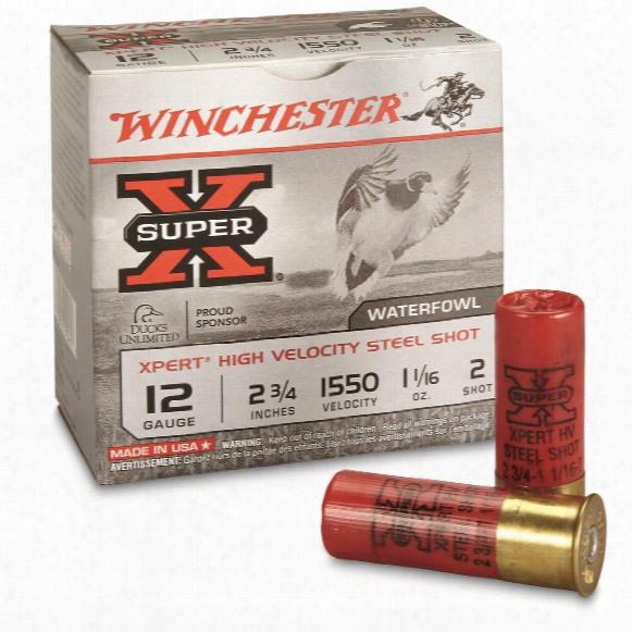 """Winchester Xpert Steel 12 Gauge 2 3/4"""", 1 1/16 Oz. Waterfowl Shotshells, 25 Rounds"""