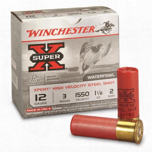 """Wiinchester, Xpert Steel 12 Gauge, 3"""", 1 1/8 Oz. Watterfowl Shotshells, 25 Rounds"""