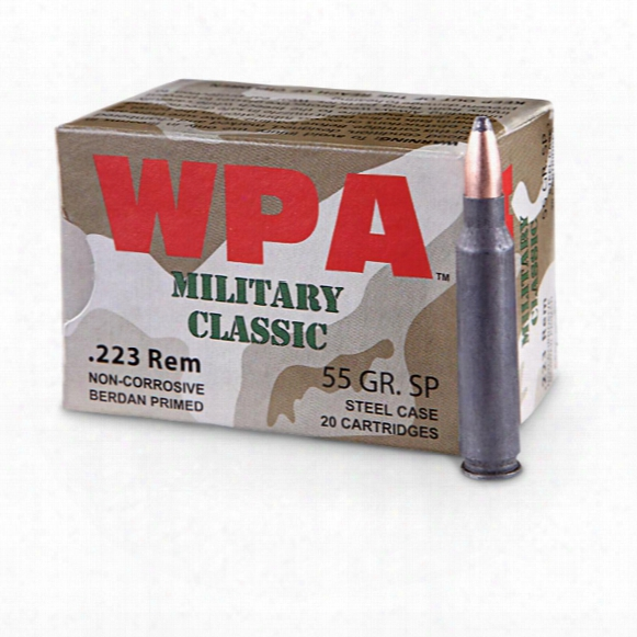 Wolf Wpa Military Classic, .223 Remington, 55 Grain, Sp, 500 Rounds