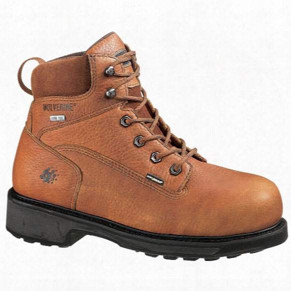 """Wolverine® Men's 6"""" Durashocks® Slip Resistant Gore - Tex® Waterproof Boots, Brown"""