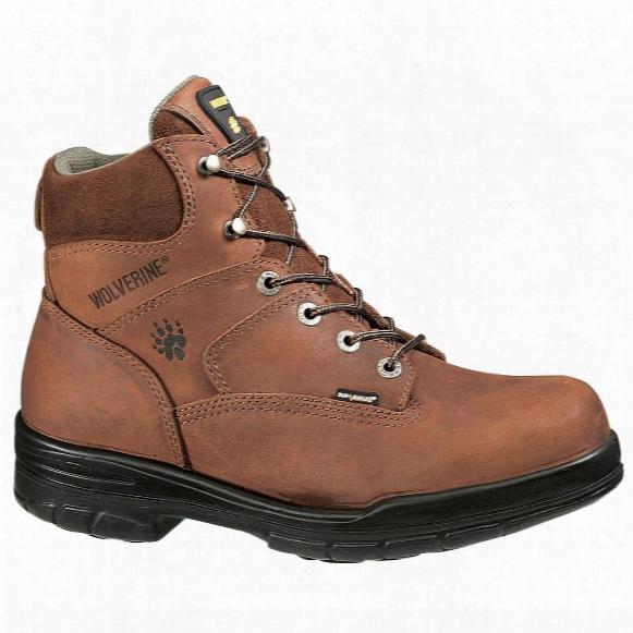 """Wolverine® Men's 6"""" Durashocks® Slip Resistant Work Boots, Dark Brown"""