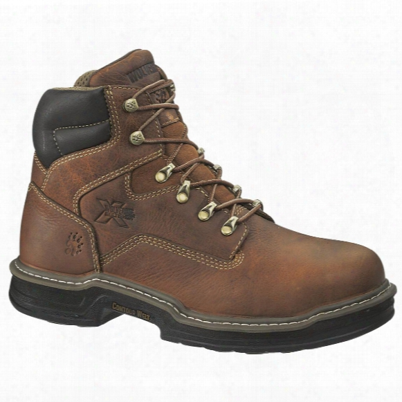 "Wolverine® Men's Raider 6"" Multishox Steel Toe Boots, Brown"