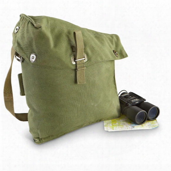 2 Used Swiss Military Surplus Shoulder Bags, Olive Drab