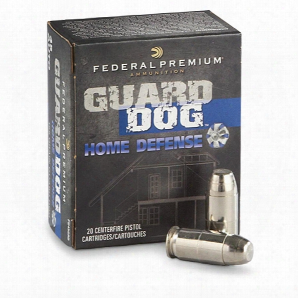 20 Rds. .45 Acp Federal Premium Guard Dog 165 Grain Fmj Home Deefense Ammo