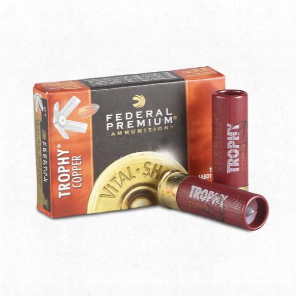 "5 Rounds Of Federal Premium Vital-shok 12 Gauge 3"" Shotgun Slug Ammo"