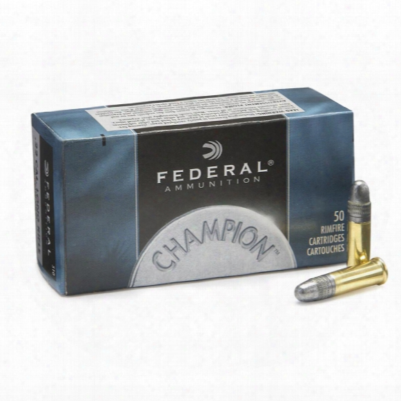 50 Rounds Federal® Champion .22 Lr 40 Grain Solid Ammo